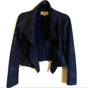Georgie Vegan Suede Moto Jacket